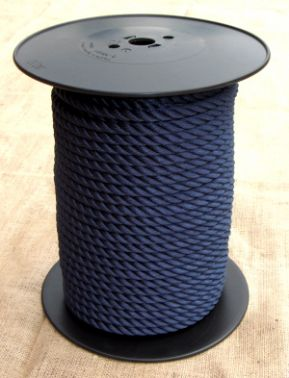 10 Metres 8mm Navy Blue Multifilament  Polypropylene Rope
